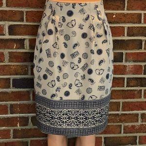 Jones New York 100% Silk Petite Skirt Size 6